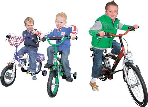 Kinder fietsen voor alle leeftijden